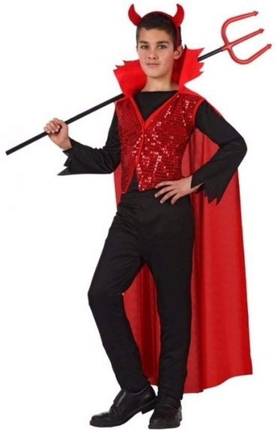 Kinderen Halloween.Halloween Halloween Rode Duivel Kostuum Voor Kinderen 128