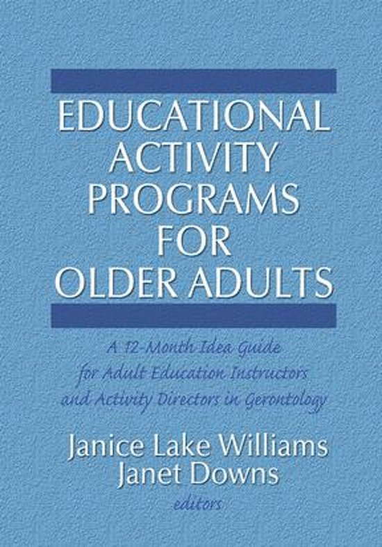 Educational Activity Programs for Older Adults