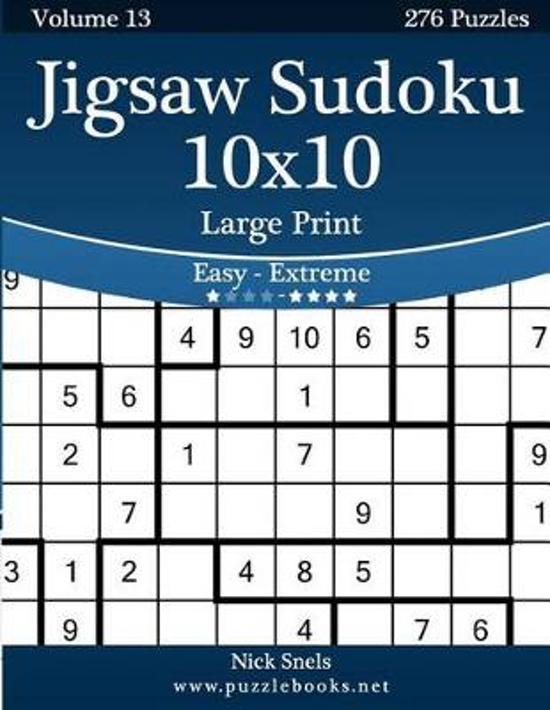bol com   Jigsaw Sudoku 10x10 Large Print - Easy to Extreme - Volume
