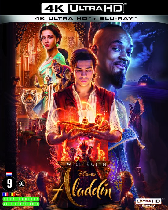 DVD cover van Aladdin (4K Ultra HD Blu-ray) (Import Zonder NL)