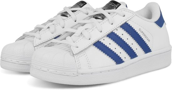 adidas superstar blauw wit suede