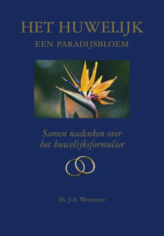Het huwelijk een paradijsbloem