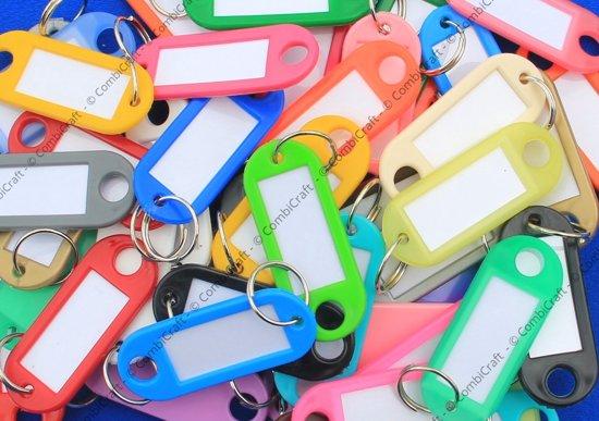 Sleutellabels kleurassorti - 50 stuks