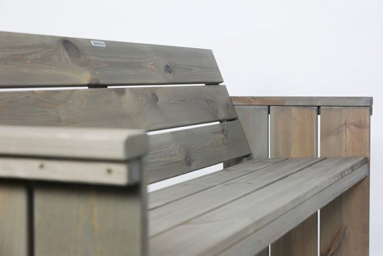 MaximaVida tuinbank 120 cm steigerhout look - grey wash - 100% FSC