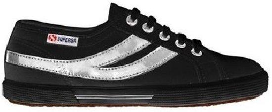 Superga Unisex Sneakers 2951 Cotu Zwart/zilver Maat 36