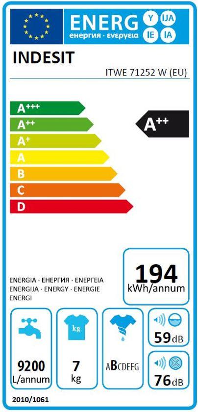 Indesit ITW E 71252 W EU - Wasmachine