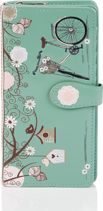 SHAGWEAR portemonnee Vintage postcard turquoise -  0397Z