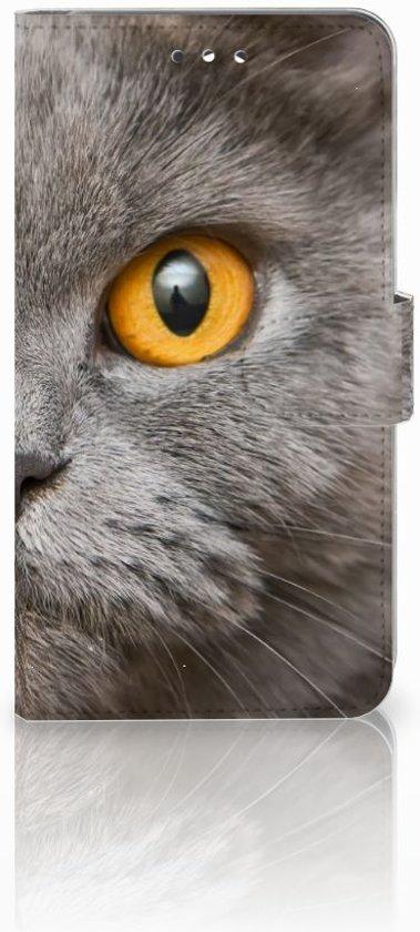 Huawei Y7 2017 Uniek Design Hoesje Britse Kat in Westerein / Westerend