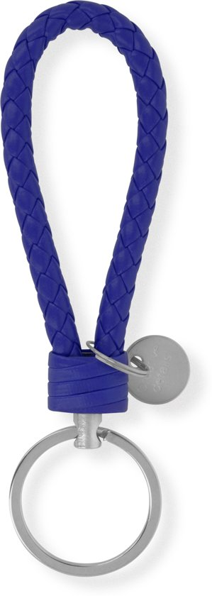 Sleutelhanger | Handgemaakte Blauwe Gevlochten Geweven Sleutelhanger| Mode| Auto Sleutelhanger Blauw | Huissleutel | Metalen Sleutelhangers| Sleutelhanger Mannen of Vrouwen | Fietssleutel | Goedkope Sleutelhanger