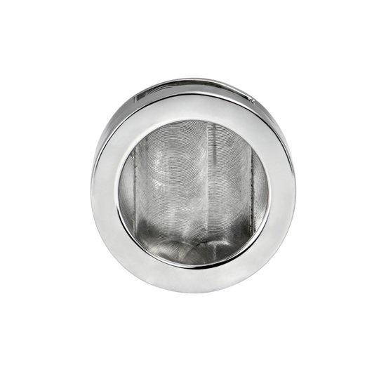Quiges - RVS Mini Munt Button zilverkleurig voor Armband - ECO020