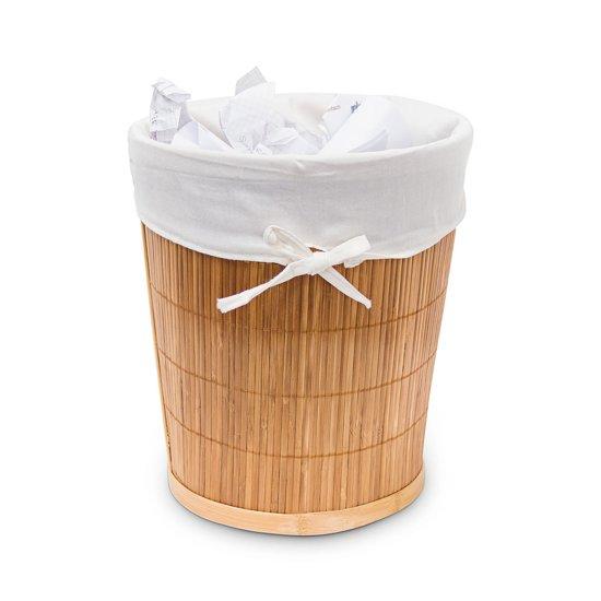 Super bol.com | relaxdays Houten mand - Emmer bamboe hout woning - 29 cm XE36