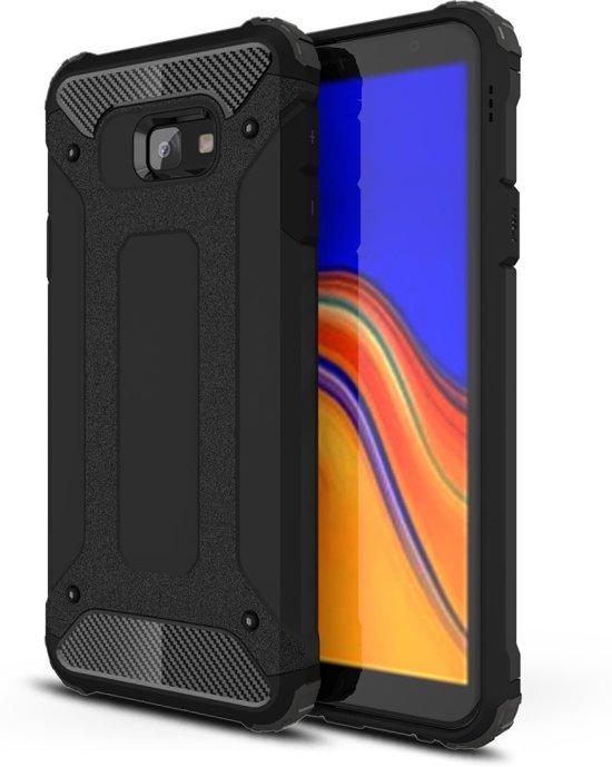 Armor Hybrid Samsung Galaxy J4 Plus Hoesje - Zwart