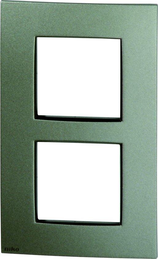 NIKO Intense Bronze afdekplaat 2V verticaal