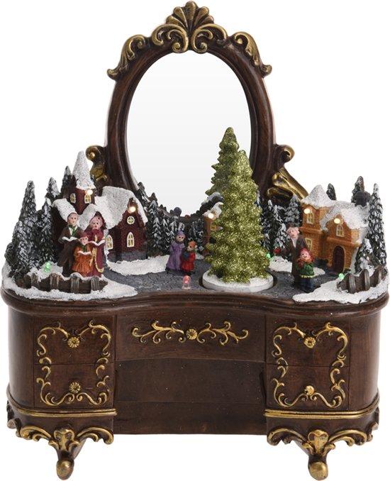 Kersttafereel dressoir