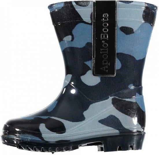 Peuter regenlaarzen met camouflage print blauw 24
