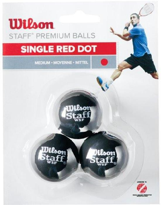 Wilson STAFF SQUASH 3 BALL RED DOT Squash