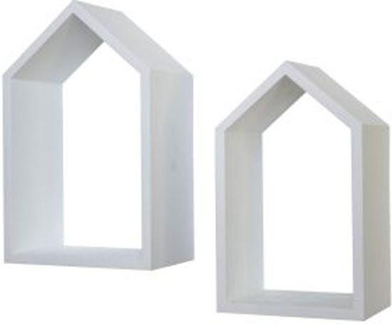 bolcom woonexpress wanddecoratie set 2 stuks huizen