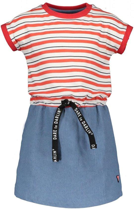 be62172889e2f5 bol.com | Moodstreet Meisjes Jurk Contrast Skirt - Rood - Maat 122/128