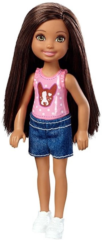 Barbie Club Chelsea Tienerpop Brunette 14 Cm