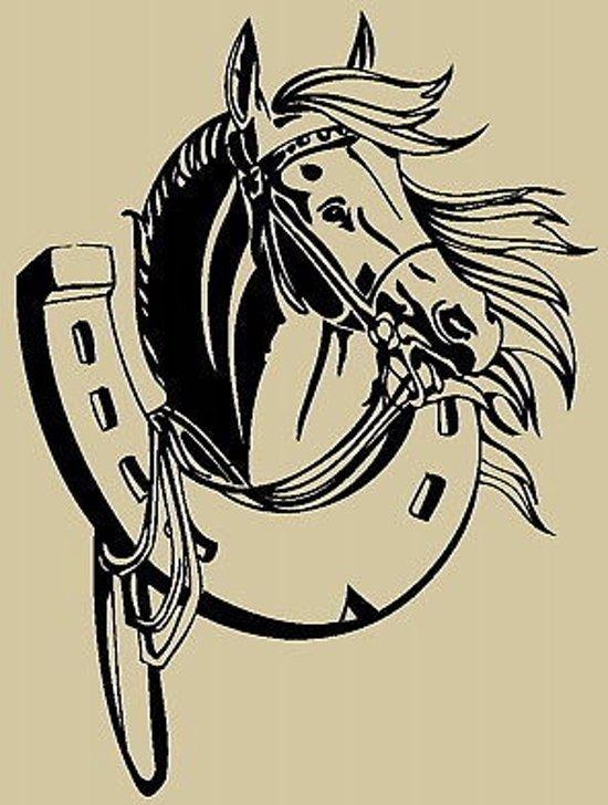 Paarden Sticker Muur.Bol Com Paarden Muursticker Paard Voor Kinderkamer Meisjes