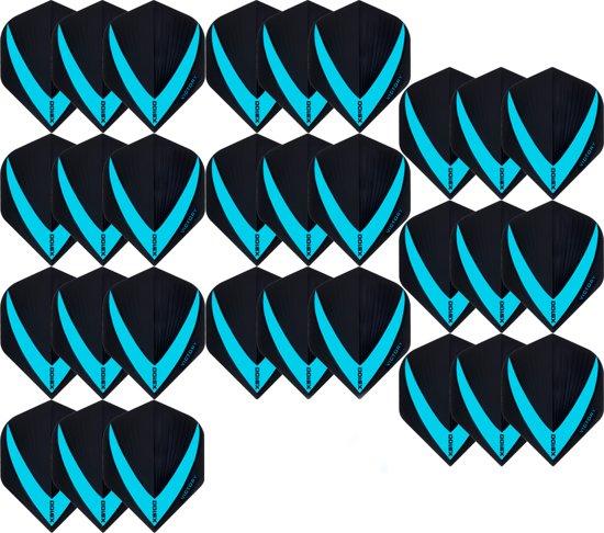 10 sets (30 stuks) Super Sterke Aquablauwe Vista-X – darts flights – Dragon darts