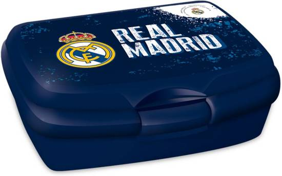 Real Madrid - Lunchbox - 14 x 10 cm - Blauw