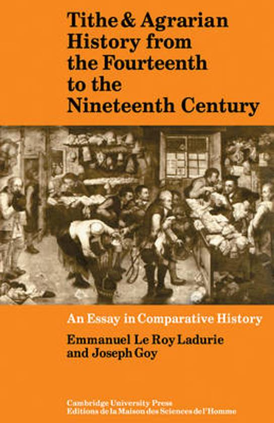 Tithe and Agrarian History from the Fourteenth to the Nineteenth Century