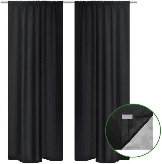 vidaxl verduisterende gordijnen dubbellaags 140x245 cm zwart