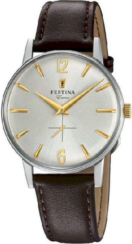 Festina F20248/2 horloge heren - bruin - edelstaal
