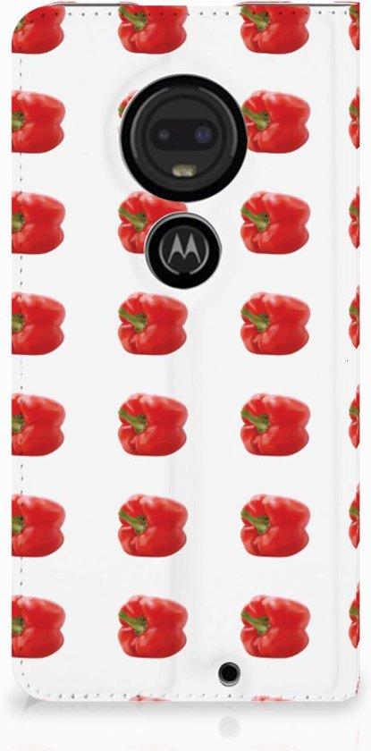 Motorola Moto G7 | G7 Plus Standcase Hoesje Design Paprika Red