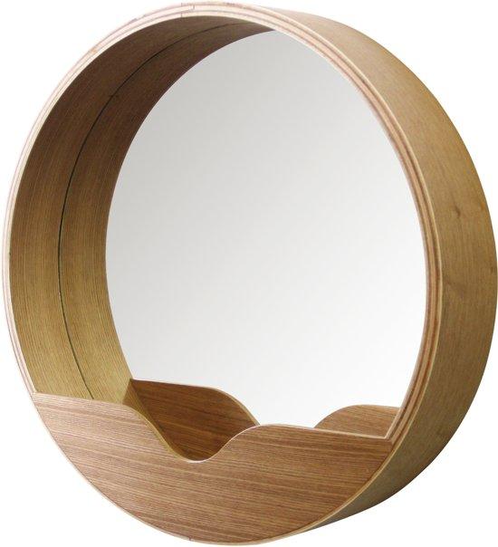 Zuiver round wall spiegel bruin - Spiegel voor ingang ...