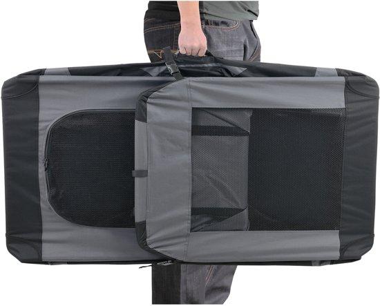 [pro.tec]® Dieren transportbox - reismand - grijs - XXXL