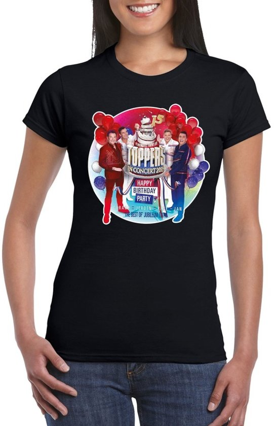 Toppers - Zwart Toppers in concert 2019 officieel t-shirt dames XS