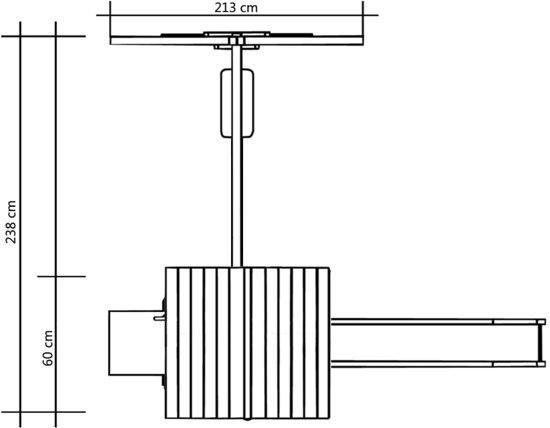 vidaXL Speelhuis met glijbaan, schommel en ladder 238x228x218 cm hout