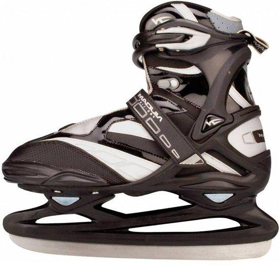 Nijdam 3382 Pro Line IJshockeyschaats - Schaatsen - Unisex - Volwassenen - Zwart/Zilver - Maat 44