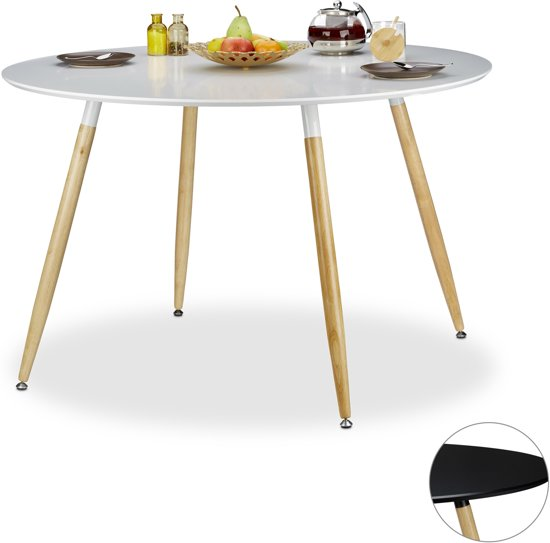 Ronde Eettafel Wit Hout.Bol Com Relaxdays Eettafel Rond Eetkamertafel Eetkamer Tafel