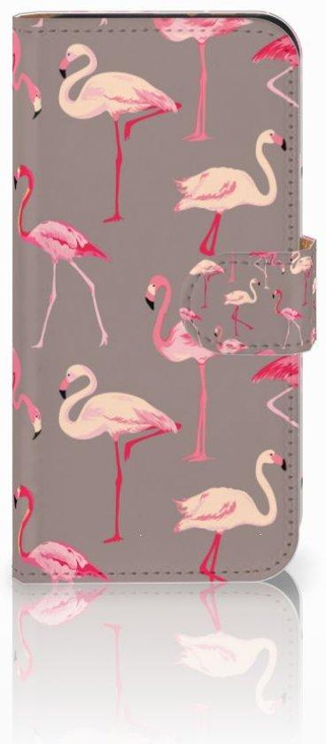 HTC One Mini 2 Uniek Boekhoesje Flamingo