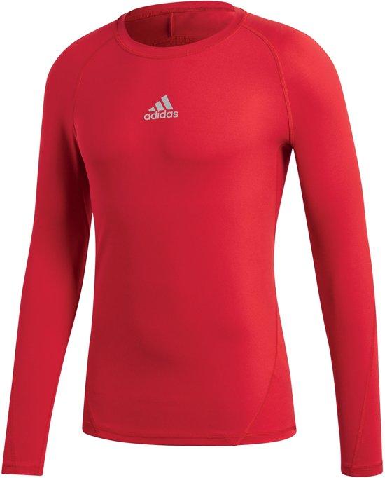 adidas Alphaskin Thermoshirt - Thermoshirt  - rood - XL