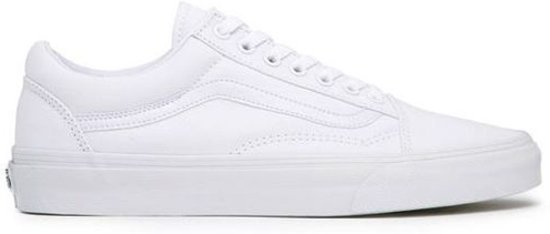 vans old skool leer wit