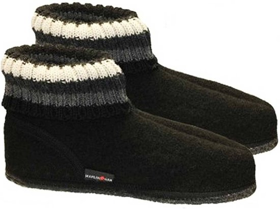 Haflinger Paul Black La Taille De Pantoffels: 36 TQL4K0
