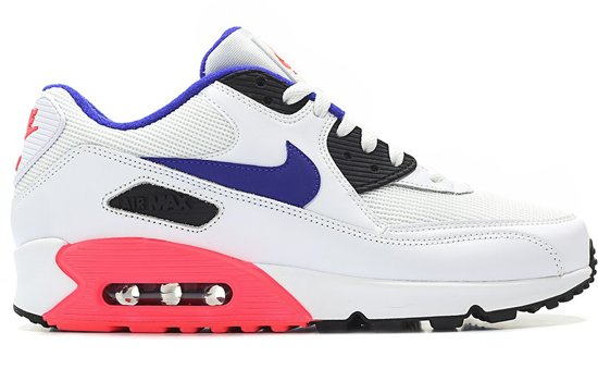 | Nike Air Max 90 Essential 537384 136 Wit Paars Rood