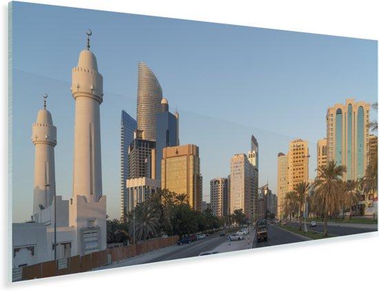 Stadslandschap bij Abu Dhabi in de Verenigde Arabische Emiraten Plexiglas 160x80 cm - Foto print op Glas (Plexiglas wanddecoratie)