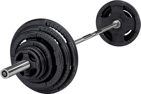 Betere bol.com   Body-Solid 140 kg set olympische gewichten + stang + YE-81