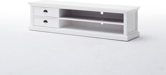 Tv Meubel Plank.Bol Com Halifax Tv Meubel Met 2 Lades En 1 Plank In Wit