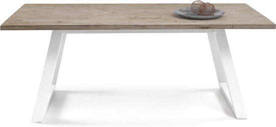 Witte Eettafel 180x90.Bol Com Eettafel New York Acacia Hout 180 X 90 X 78 Cm
