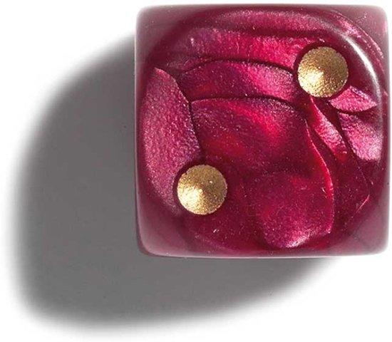 Afbeelding van het spel Philos parelmoer rode dobbelstenen 12mm