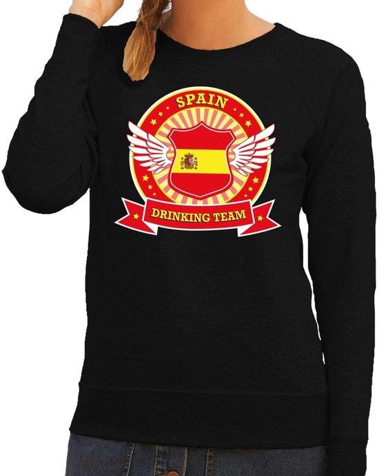 Zwart Spain drinking team sweater dames S