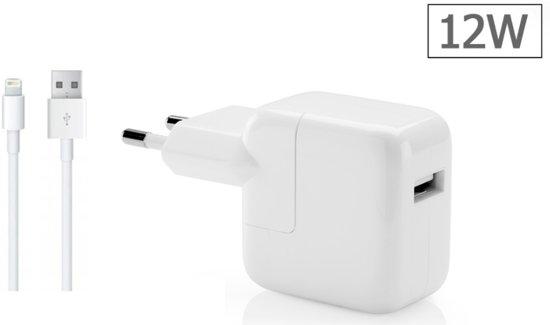 12W oplader oplaad adapter inclusief 1 meter lightning kabel voor Apple iPad 4 / iPad Pro / Air / iPad 2018 / 2017 Mini en iPhone  6 / 6S / 6 Plus / 7 / 7 Plus / 8 / 8 Plus / XR / XS Max / XS / X