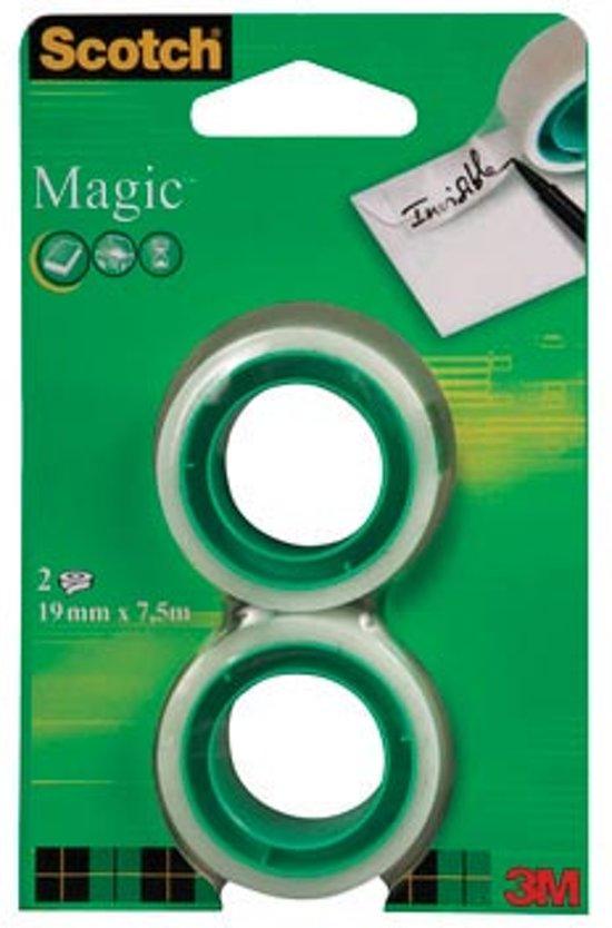16x Scotch plakband Magic Tape, 19mmx7,5 m, blister met 2 rolletjes