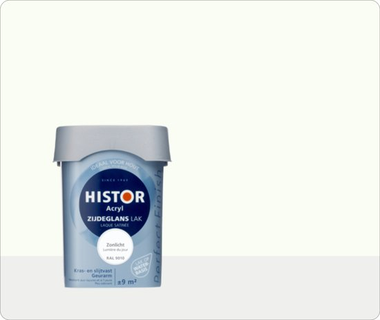 Histor Perfect Finish Acryl zijdeglanslak zonlicht wit RAL 9010 750 ml